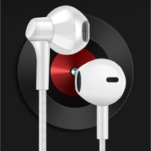 Musttrue Stereo Bass Earphone White In-ear Headset with Mic Handsfree Earbuds fo