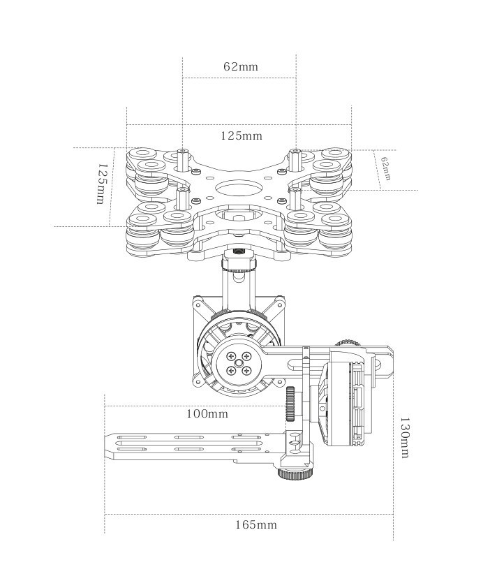 3 Axis Gimbal 4108 Brushless Motor Basecam Simplebgc 32 Bit 8bit