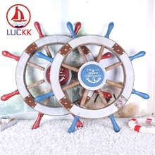 LUCKK DIY 78 CM Wooden Rudder Model 2 Color Wall Hanging Vintage Home Decoration Accessorie Crafts Creative Toys