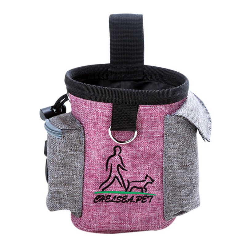 Dog Treat Feeding Food Snack Oxford Waist Bag Pocket Snack Pouch Food Storage Holder For Pet Outdoor Training Supplies