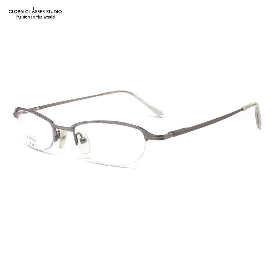 Apprehensive Retro Half-rim Oval Lens Metal Glasses Silver Plaid Frame Acetate Tip Prescription Optical Reading Glasses Lx-g11531 Women's Glasses