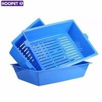Hoopet猫bedpansセミクローズド抗スプラッシュ猫トイレ砂箱プラスチック便器ケースペット用品3連動トレイ簡単使