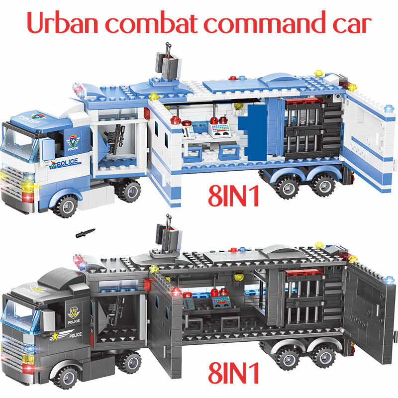 1102-1122pcs בניין תחנת המשטרה עיר בלוקים legoingly עיר משאית SWAT צוות החינוכי צעצוע עבור בני ילדים