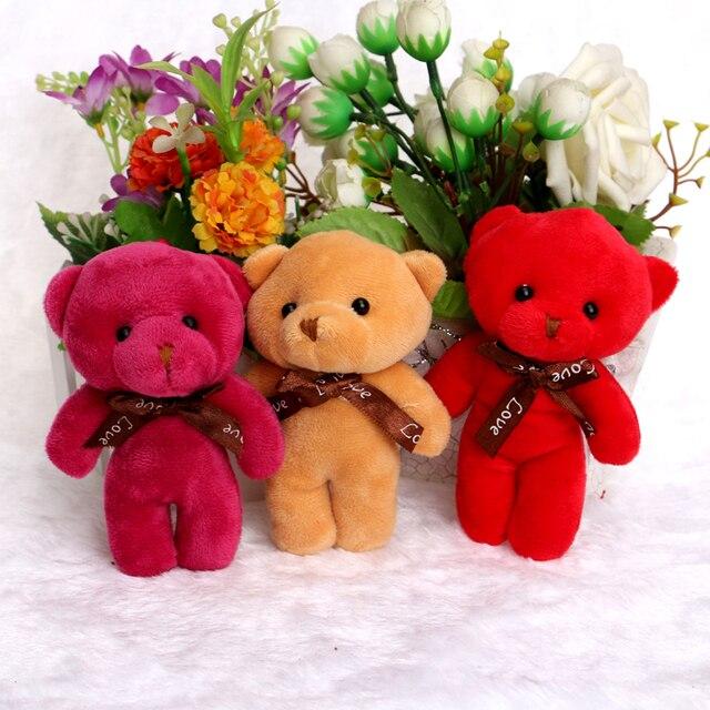 Plush Toys 12CM Baby Girl Boy Teddy Bears Soft Cotton Bow Cute ...