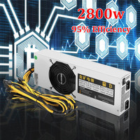 2800W 95 90 PLUS Mining Miner Power Supply 12V 220A 6pin 24 For BTC Bitcoin Miner