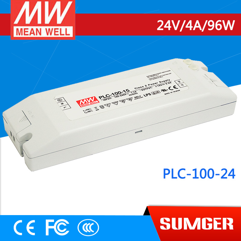 [Sumger2] MEAN WELL original PLC-100-24 24V 4A meanwell PLC-100 24V 96W Single Output Switching Power Supply meanwell switching power supply plc 100 12 12v 5 0a new original 2 years warranty