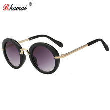 RHAMAI Metal frame kids Sunglasses girls boys glasses Eyewea