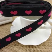 53c8ca813cba #1226 Rosa corazón bandas elásticas cinta de goma de ajuste de encaje 2  yardas/Lote 18 MM cinta elástica ancha para pantalones d.