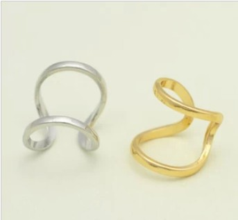 Simple Matt Gold Silver Polished Band Double 2 Lines Knuckle Midi Rings Punk Ring