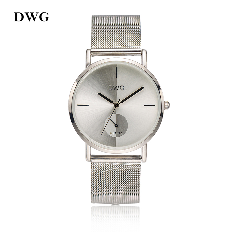 DWG Brand Colors Women Quartz Silver Watch Metal Bracelet Wrist Watches Analog Ladies Dress Hand Clock Silver Watch Montre Femme mjartoria ladies watches clock women quartz watch simple sport bracelet watch student girl female hand wrist watches for women