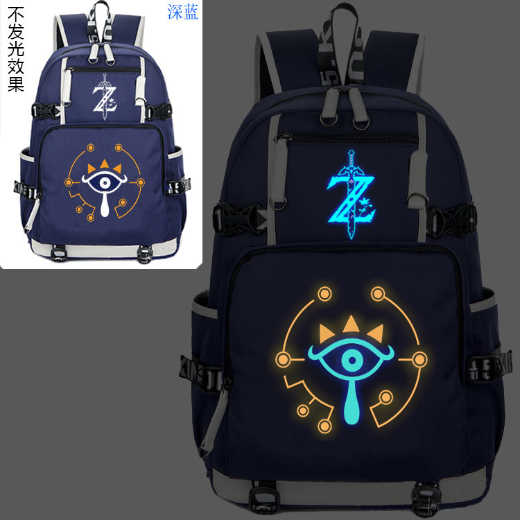 New The Legend of Zelda Luminous Backpack Cosplay Breath of the wild Eye Student Schoolbag Unisex Travel Shoulder Laptop Bags 1