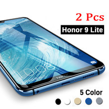 2 Pcs untuk Huawei Honor 9 Lite Tempered Glass Full Cover Keselamatan Pelindung Kaca Di Honor 9 Honor9 Lite Lampu 32 GB 64 GB Kaca Film(China)