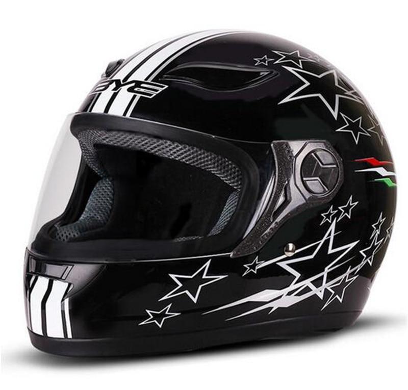 BYE Motorcycle Helmet Men Full Face Breathable Comfort ABS Material Riding Motorbike Motocross