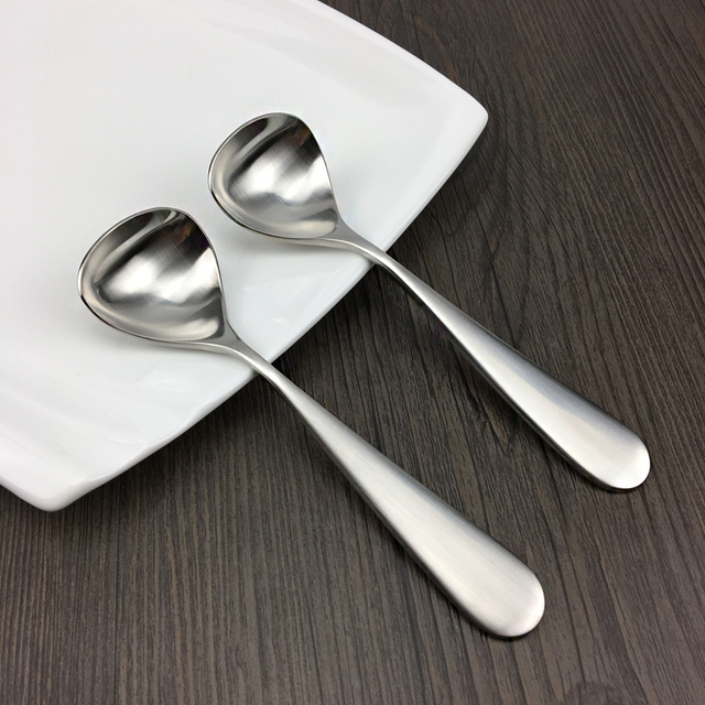 1810 Stainless Steel Soup Spoon Cute Creative Cutlery High-end Dinner Spoon Eco-friendly : eco friendly tableware - pezcame.com