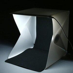 """Image 2 - 24 センチメートル/9 """"ミニ折りたたみライト写真スタジオソフトボックス led ライトカメラ写真の背景ボックス照明テントキット"""