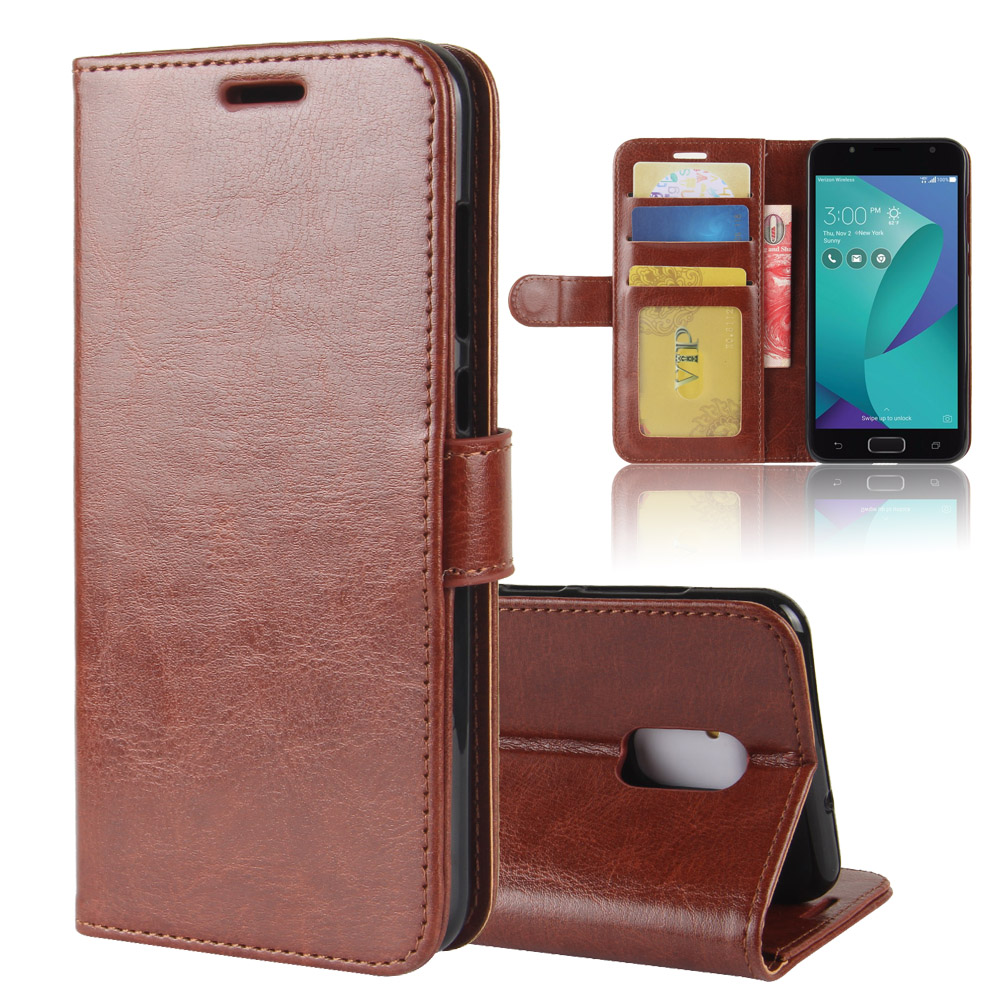 for Asus ZenFone V Live V500KL Case,Luxury Vintage Flip Leather Wallet Stand Business Cover 5.0 inch Protection Bag