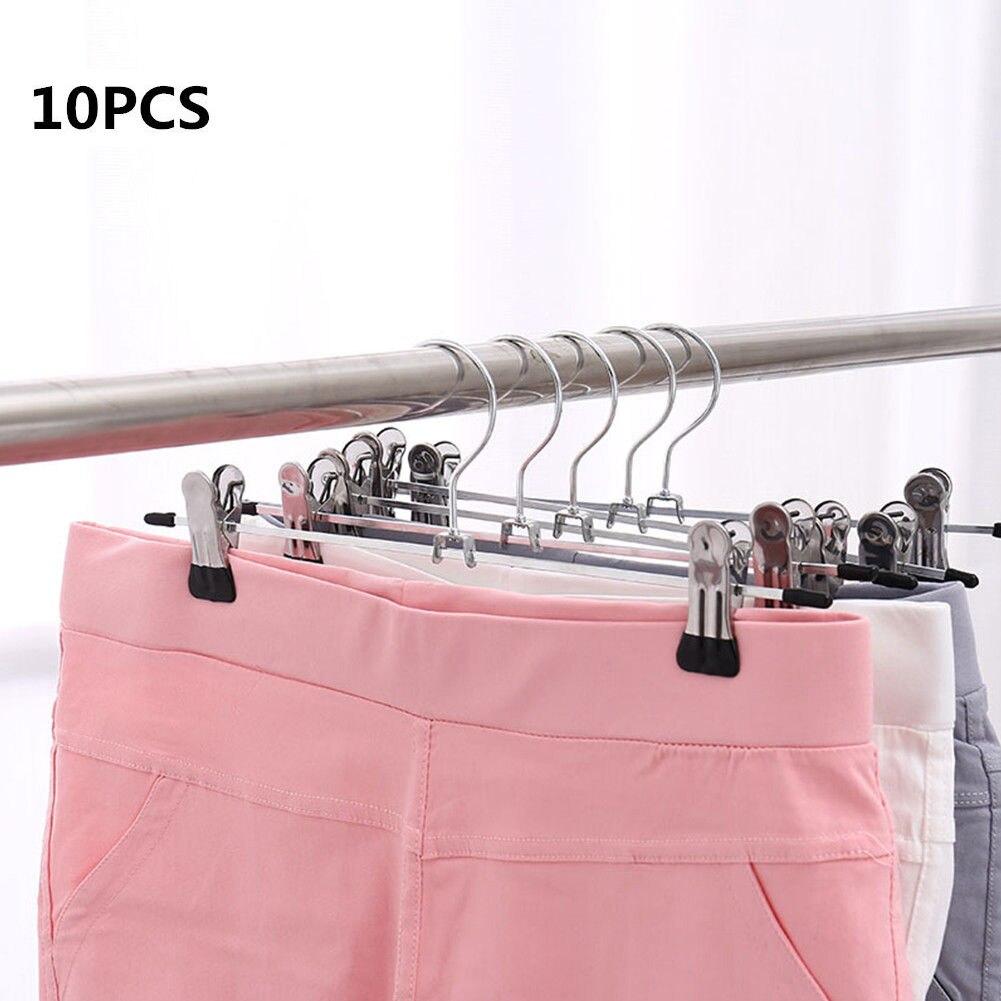 Стиль 10 шт. нержавеющая сталь стойка для штанов зажим для штанов Зажимная вешалка