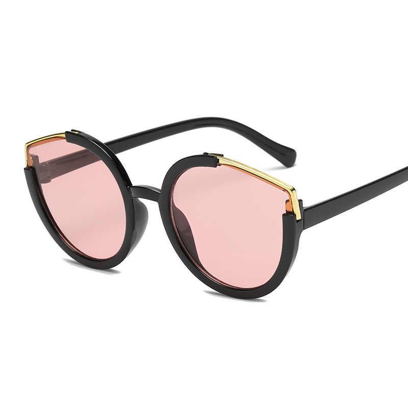a0a1b08a68 KUJUNY Oversized Cat Eye Sunglasses Women Retro Brand Big Frame Round Lens  Sun Glasses for Men Outdoor Shades Female Glasses