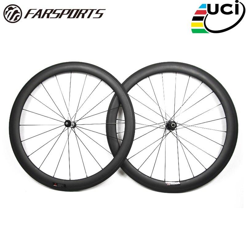 Farsports FSC50-TM-25 DT350 hub 25mm wide strong U shape road carbon tubular 700c wheelset 50mm, bike bicycle carbon wehels rims
