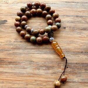 Image 4 - New Handmade 10mm Natural stone beads 33 Prayer Beads Islamic Muslim Tasbih Allah Mohammed Rosary for women men Bead Jewelry