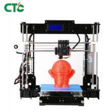 3D Printer A8 High Precision Black Acrylic with CD+ Filaments Resume Power Failure Printing Parts