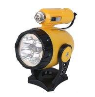 1 unid 12 V 24 W 5 LED de Coche universal de luces de trabajo Amarillo Linterna Flexible Clip de Automóviles auto de Emergencia Externo lámpara de trabajo del cree