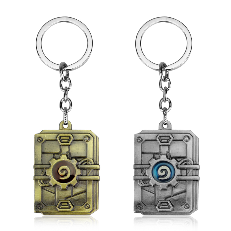 Wholesale Game Jewelry Hearthstone Keychain Key keyring Official Classic Heroes Of War crafts Pendant Key Chain Gift For Men Fan