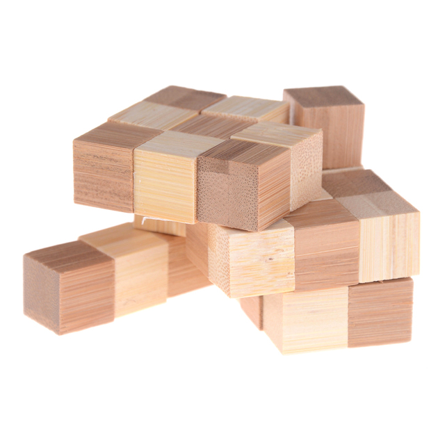 Kong Ming Luban Lock Kids Children 3D Handmade Wooden Toy Adult Intellectual Brain Tease Game Puzzle 5