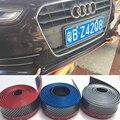 Goma Universal Kit de Carrocería de Fibra de Carbono Frente lip bumper Faldón Lateral Recortar 2.5 Metros para Audi TT R8 A1 A2 A3 A4 A5 A6 A7