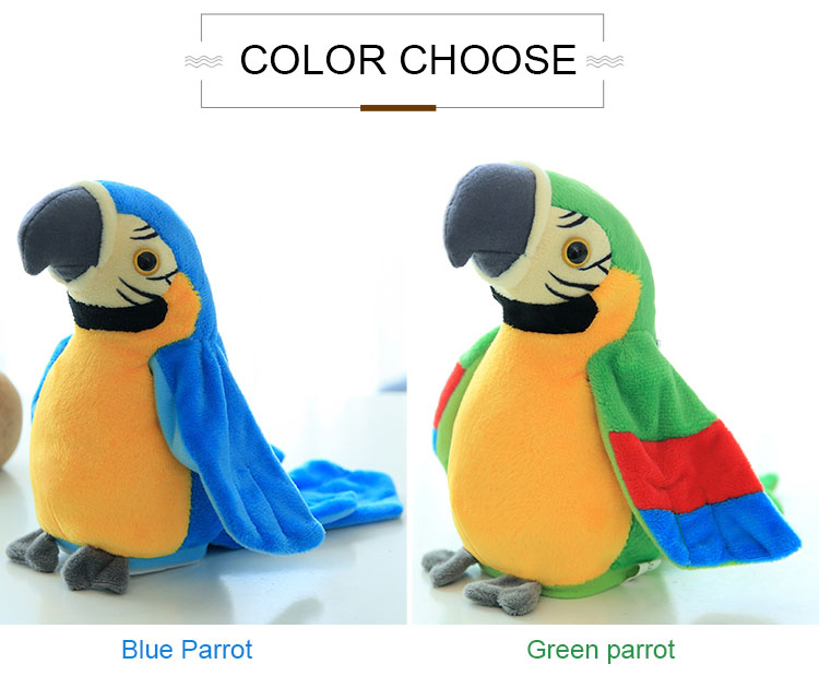 Talking Parrot Plush Toy cute