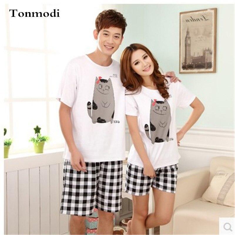 Pajamas Women Summer Lovers Sleepwear 100% Cotton Character Pijama ... 024fbb31a