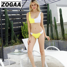 ZOGGA Double Color Stitching Sexy Sleeveless Two Piece Set Women High-quality Spandex/polyester Casual Outfits