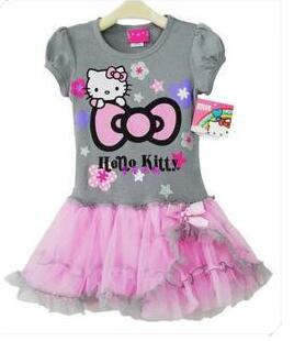 2017 Summer New Children Dress Princess Dress Girls Hello kitty Dress 2017 new children