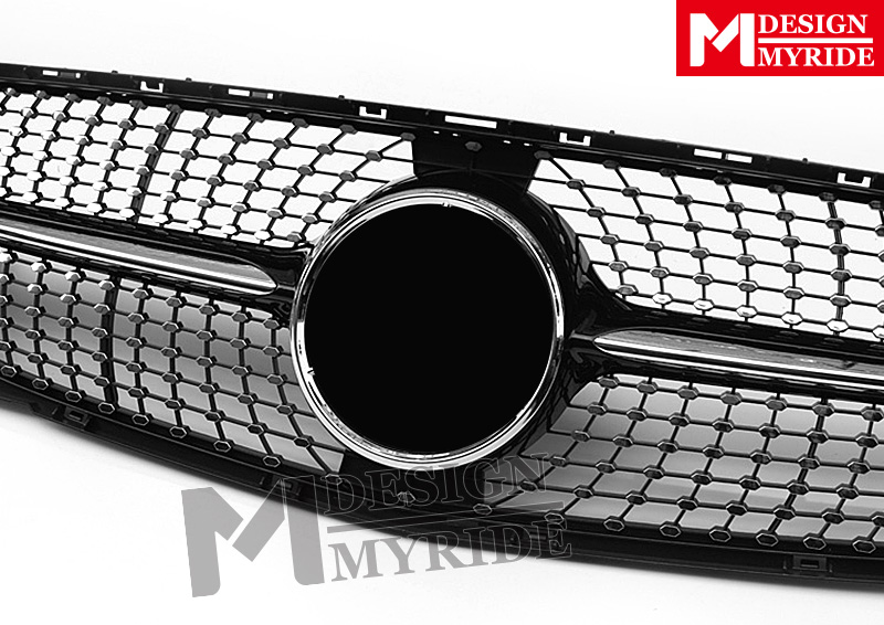 X156 Grille Grill Diamonds Grills Without SignFor MercedesMB GLA Class X156 GLA180 GLA200 GLA250 Look Grills ABS Black 2017 2019 in Racing Grills from Automobiles Motorcycles