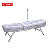 BYRIVER Factory Wholesale Massage Bed Portable Metal Iron Frame Jade Stone Therapy Massage Table Tourmaline Heating Mat in Leg