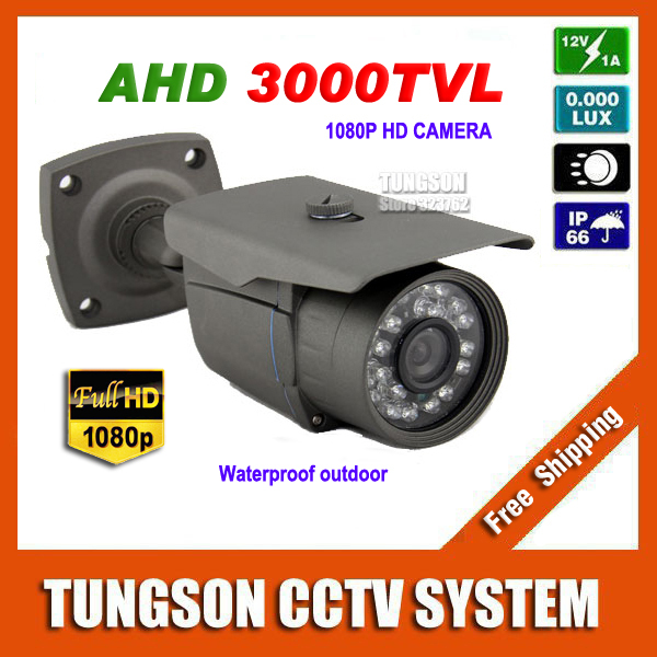 2015 NEW HD AHD 1920*1080P CCTV Camera Outdoor Waterproof Bullet Night Vision IR 2MP Security Surveillance Free Shipping free shipping new waterproof ahd 720p bullet metal camera hd 1mp cctv outdoor security 24 ir night vision bnc cable
