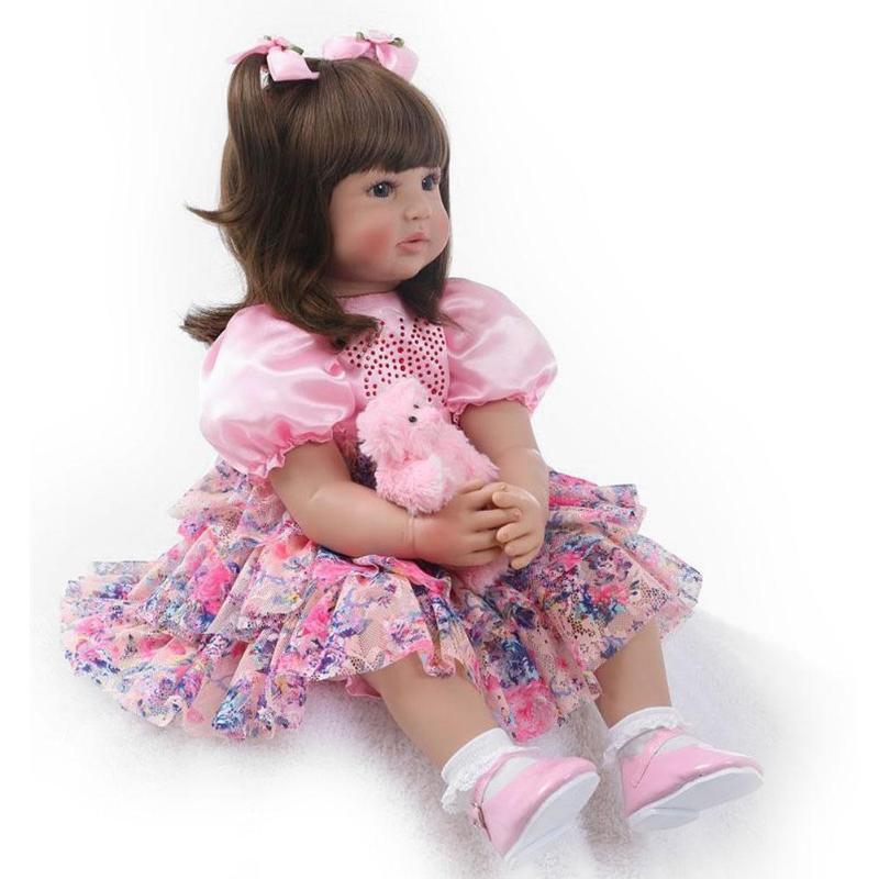 60cm Simulation Reborn Baby Doll Kids Soft Vinyl Lifelike Doll Toys Children Playmate Infant Sleeping Friend Baby Birthday Gifts