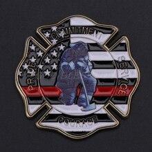 Пожарный Памятная коллекция монет сувенир монеты подарки сплав художественные талисманы украшения для дома