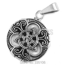 Wholesale Claddagh Style Celtic Knot Pendant Stainless Steel Jewelry Fashion Motor Biker Women Pendant SWP0196A