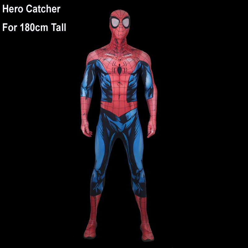 Hero Catcher Top Quality 180cm Tall Bagley Spiderman Cosplay Costume For Man Newest Bagley Spiderman Costume With Big Eyes