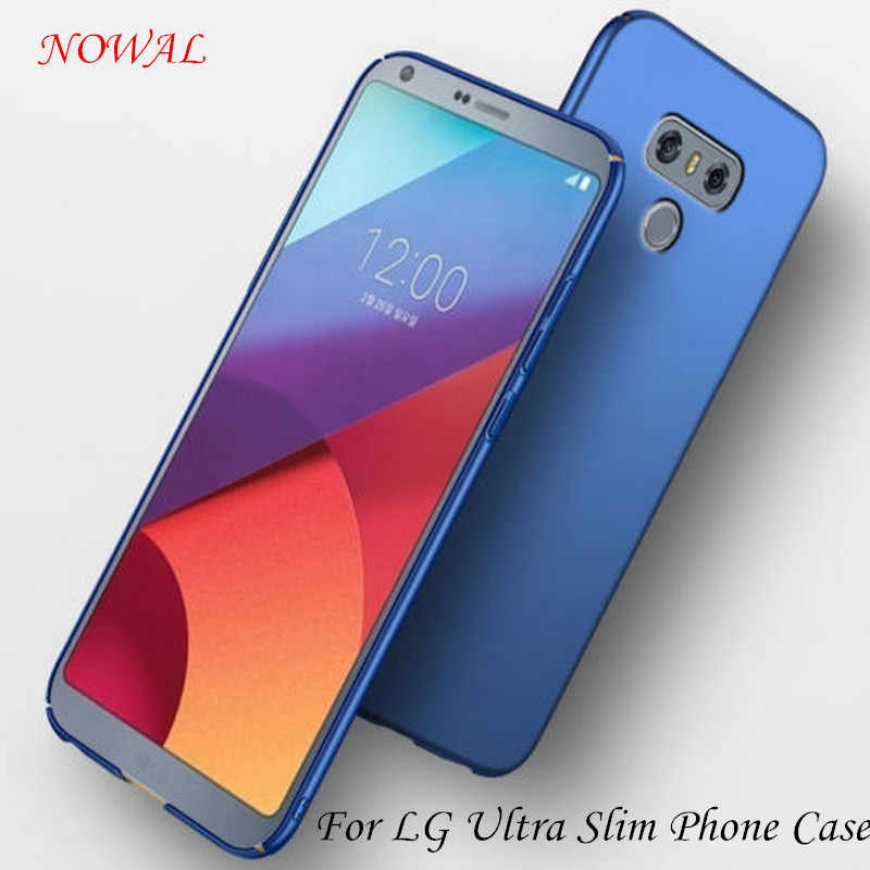 NOWAL Matte Frosted Hard Phone Case For LG G7 Q6 Q8 K10 Full Cover Protective Back Cases For LG V20 V30 G4 G5 G6 G7 Q6 PC Coque