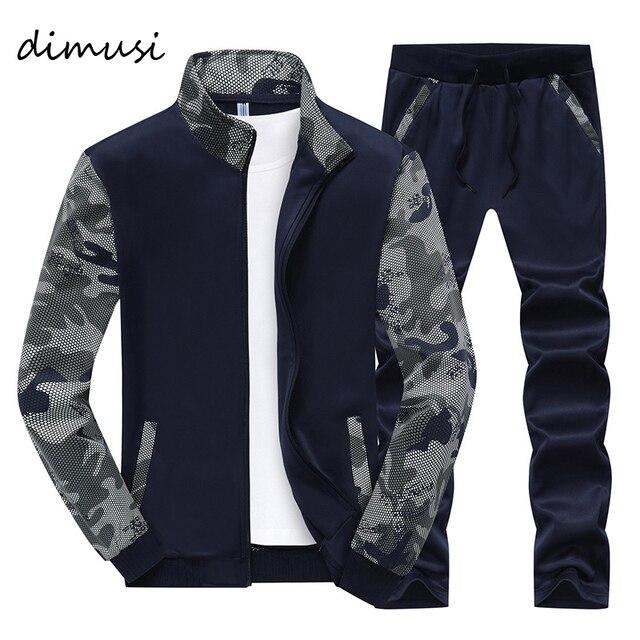 DIMUSI Mùa Xuân Men Sportwear Đặt Tracksuit Nam Outwear Áo Nỉ Chắp Vá Men Hoodies Đứng Cổ Áo Nam Tracksuit 4XL, TA046