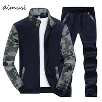 DIMUSI Spring Men Sportwear Sets Tracksuit Male Outwear Sweatshirts Patchwork Men Hoodies Stand Collar Male Tracksuit