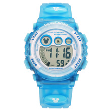 Original Disney niños niños niñas niños relojes relojes de pulsera digital Multifuncional al aire libre de goma Mickey impermeable MK-15030