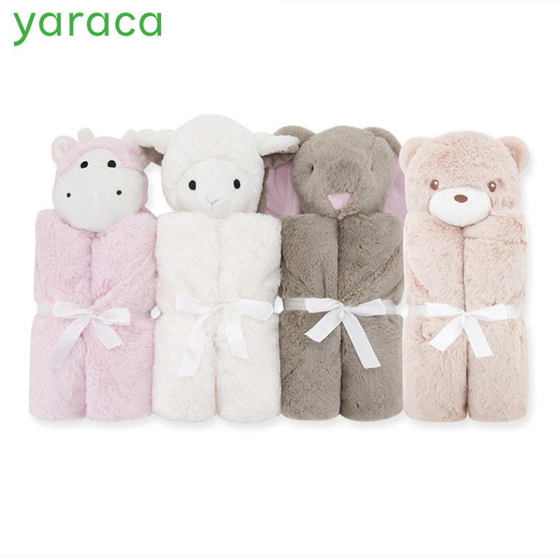 Baby sleeping Blanket Newborn Cartoon Bedding Cobertor Colchas Infant Gift Soft Rabbit Bear Toy Head Baby Blankets aibeile 2017 new 3 colors bear elephant flannel baby blanket newborn soft cartoon blankets 100 100cm for beds thick warm kids