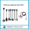 High Quality Car Cable Full Set 8pcs for tcs cdp pro plus/MVD/WOW/Kess Auto Diagnostic interface Car cables free ship