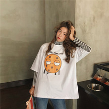 2019 Summer Oversized Short Sleeve Tshirt Style Womens Casual Tees harajuku Female Loose Tee Cute Young Long Tops Team clothes