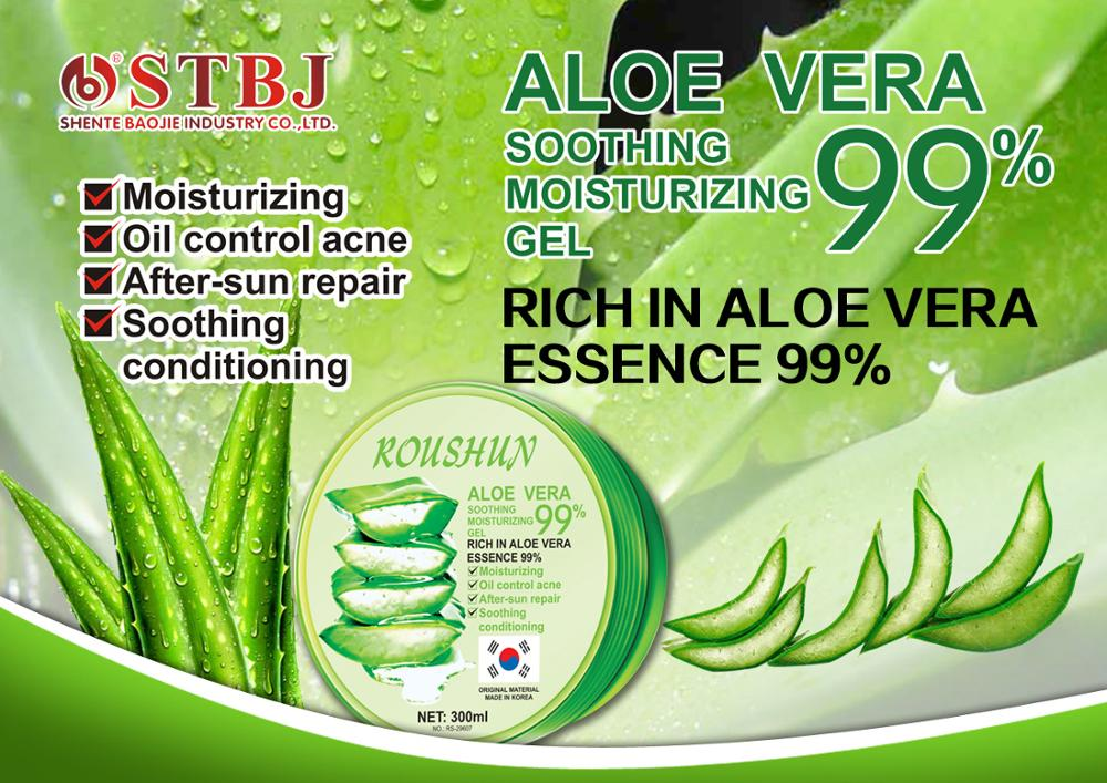 Aloe Vera Gel 99% Soothing Moisturing Lock Water facial clearning Depth Replenishment Anti-Aging Absorbed Fast & Freshly 300