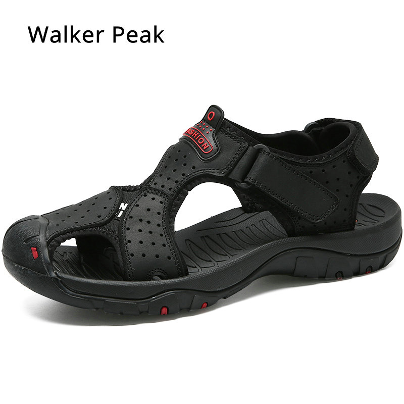 Brand Genuine Leather Sandals Summer Soft Male Shoes For Men Breathable Light Beach Casual Quality Walking Sandal 2019 Big Size