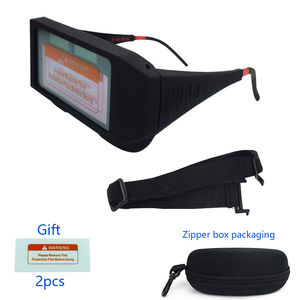 Image 4 - Solar Power Auto Darkening Welding Goggles LCD Protective Lightening Argon Arc Welding Gas Cutting Safety Glasses Eye Protection